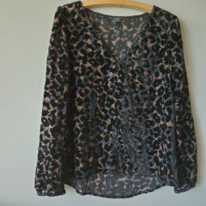 Guess   Leopard Animal Print Blouse